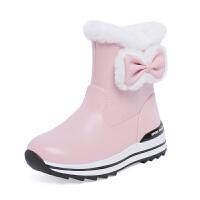 20190120010011064女童靴子2018冬季中大女童雪地靴加绒短靴女小女孩公主童鞋亲子鞋