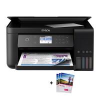 爱普生L6168墨仓式智能无线WIFI照片打印机自动双面办公家用彩色喷墨一体机连供打印复印扫描替L485 L605