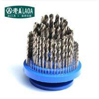老A (LAOA) 全磨制麻花钻套装不锈钢钻头盘100件套1-13mm