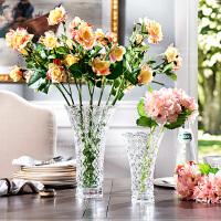 奇居良品 家居饰品摆件现代简约花瓶 米娜B款水晶玻璃花瓶