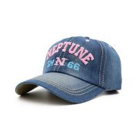 帽子女春天棒球帽韩版鸭舌帽女士情侣户外牛仔帽夏字母遮阳太阳帽 可调节