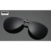 新款近视偏光太阳镜夹片隐藏式眼镜夹片男女款墨镜夹片驾驶镜 黑灰偏光片 (蛤蟆镜)