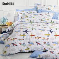 多喜爱新品全棉斜纹卡通三/四件套床上用品套件飞行梦