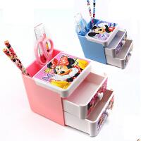 迪士尼文具礼盒套装米奇米妮储物柜笔筒套装优乐Z6919学习用品 学生文具