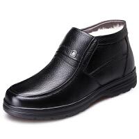 棉鞋男冬季加绒男鞋加厚高帮男士棉皮鞋中老年保暖真皮老人爸爸鞋
