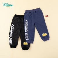 迪士尼Disney童装 男童长裤中小童休闲裤2020年春季新品罗纹束脚裤子潮酷运动裤