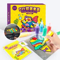 儿童手工diy油膏颜料涂鸦色早教玩具套装沙画烤画胶贴画