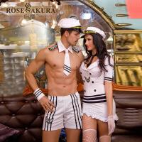 性感帅气情侣女海军服情趣内衣制服诱惑套装学生男士女式