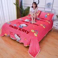 ???双人加绒法兰绒珊瑚绒床单单件短毛绒毛毛被单法莱绒毛毯1.8m米床 粉红色 粉红提提猫