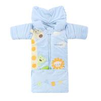 婴儿睡袋秋冬加厚可拆袖新生儿童秋冬宝宝成长型防踢被0-5岁 110码