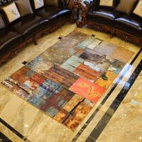 欧式复古地毯客厅茶几垫 现代简约沙发卧室书房房间床边毯长方形
