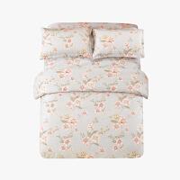 当当优品四件套高支高密纯棉双人床单款床品1.5-1.8米适用 秋水伊人