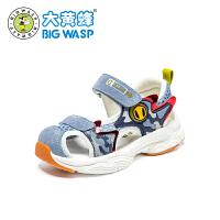【1件5折�r:115元】大�S蜂�����鲂� 幼童�底�W步鞋2020夏季新款透��C能鞋1-3-6�q