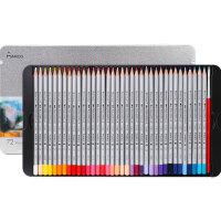 儿童彩铅绘画工具学生用美术用品铁盒礼盒装7100 彩铅彩色铅笔油性水溶性彩铅彩铅笔72色