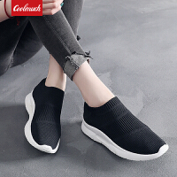 【限时特价包邮】Coolmuch女子跑步鞋轻便缓震透气运动休闲袜子鞋健步慢跑鞋KMNF02