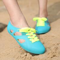 凉拖鞋女夏透气沙滩凉拖鞋女夏新款洞洞鞋女防滑花园鞋