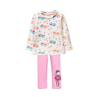女童套装女孩宝宝加绒加厚套头衫打底裤春秋冬装童装