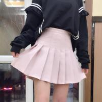 A字裙半身裙高腰显瘦秋冬女新款韩版学院风学生百褶裙短裙子