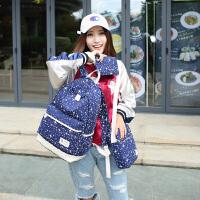 帆布包韩版时尚双肩包男女中学生包书包学院风旅行包背包