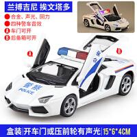 小汽车模型警察回力声光 儿童警车玩具车仿真合金大模型特警车男孩