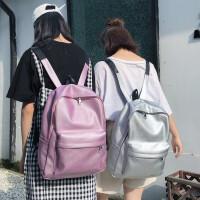 书包女韩版原宿高中学生背包PU潮流双肩包
