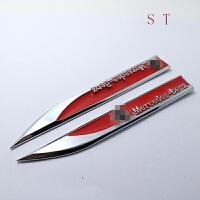 汽车贴标奔驰新C金属叶子板侧标贴改装侧标奔驰全系专用刀锋贴标