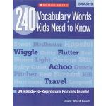 【二年级】240 Vocabulary Words Kids Need to Know Grade 2学乐词汇练习册