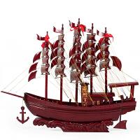 红木一帆风顺帆船摆件 实木工艺品130cm大号木船模型 风水木帆船