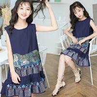 女童洋气裙子夏装儿童连衣裙公主裙韩版刺绣背心裙子