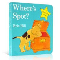 英文原版 Where's Spot? 小玻在哪里?Eric Hill躲猫猫 亲子互动早教游戏书 学前教育翻翻可揭页玩具