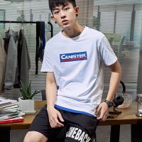 [2.5折价34.5元]唐狮2019夏装新款短袖T恤男纯棉潮流韩版打底半袖青少年学生上衣