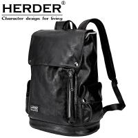 背包双肩包男时尚潮流韩版休闲运动旅行包电脑包简约青年学生书包 黑色 30天退换