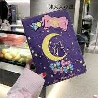 露娜猫美少女ipad2018保护套air2苹果9.7英寸卡通壳子mini5可爱软 PRO 9.7寸