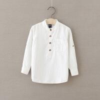 童装男童长袖T恤纯棉打底衫圆领2018春装新款中大童儿童白色上衣
