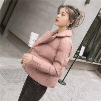 冬新款时尚棉衣女短款韩版西装领外套女士小棉袄外套