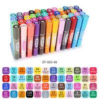 智牌ZP805大双头记号笔 箱头油性笔 物流快递大头笔 不易擦掉8色12色24色36色48色套装