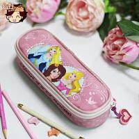 迪士尼卡通文具盒收纳袋凯蒂猫粉色小学生1-4年级女生笔盒