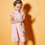 【2件8折/3件7折】裂帛童装2018夏季新款针织短袖连衣裙刺绣旗袍女童 56180006