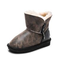 儿童雪地靴2018新款冬季男女童棉靴防水防滑中大童羊毛加绒保暖鞋