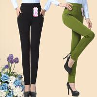 中年女裤中老年人女装小脚裤子妈妈装春夏打底裤弹力大码外穿长裤