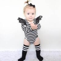 ins夏季婴儿衣服连体内衣新生儿哈衣女童宝宝纯色长袖三角爬爬服