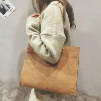 包包女2018新款韩版复古帆布单肩大包森系文艺百搭链条手提包