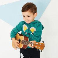 【1件2.5折到手价:51.3】美特斯邦威旗下Moomoo童装男幼童针织开衫外套春季新款小宝宝长袖外套