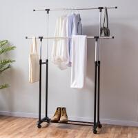 【满减】ORZ 家用升降伸缩凉衣架落地卧室内阳台晾衣杆双杆晒衣架挂衣服架子
