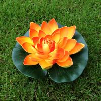 仿真荷花 荷叶水池装饰造景假睡莲花 鱼缸漂浮绿植供佛舞蹈道具花