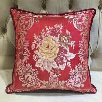 欧式提花沙发靠垫糖果枕 新中式加大床上靠背腰靠 抱枕套/含芯