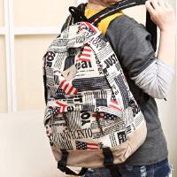 日系韩版潮流个性高中学生书包双肩包男女复古背包旅游包