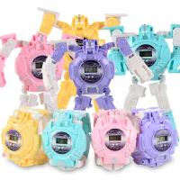 数字变形手表男孩玩具套装金刚机器人 儿童超级变身手表益智礼物4