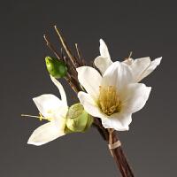 仿真木棉花束假花 家居装饰品客厅餐厅插花花艺 新中式禅意花卉 白色木棉花束