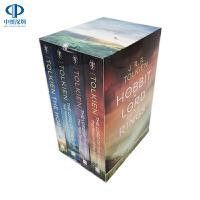 英文原版 霍比特人 指环王魔戒4册套装 The Hobbit & The Lord of the Rings Boxed